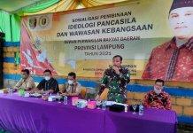 Wujudkan Jiwa Nasionalisme dan Cinta Tanah Air, Desa Tanjung Harapan Sosialisasi Pembinaan Ideologi Pancasila dan Wawasan Kebangsaan