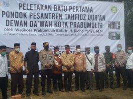 Setelah MAN, Dewan Dakwah Prabumulih Bangun Ponpes Tahfidz Al-Qur'an