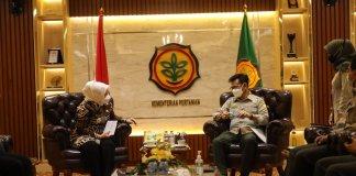Temui Menteri Pertanian, Bupati Hj Ratna Machmud Sampaikan Harapan Masyarakat Mura
