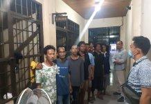 Sweeping Premanisme, Polda Sumsel Amankan 7 Pelaku Pungli Kendaraan Truk Semen dan CPO di Simpang Pelabuhan Pinishi Sei Lais