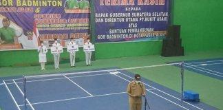 Resmikan Gor Badminton, Gubernur Sumsel: Semoga Bermanfaat Bagi Masyarakat Pagar Alam