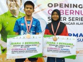 Dua Atlet Bulutangkis Empat Lawang Lolos ke Grand Final Gubernur Sumsel Super Series Batminton 2021