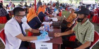 Vaksinasi Massal di OKI Lampaui Target, Capai 6.373 Orang