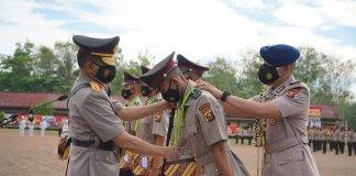 Lantik 261 Bintara Polri Baru, Kapolda Sumsel Berikan Penghargaan kepada Anak Petani Asal Pagar Alam Ini