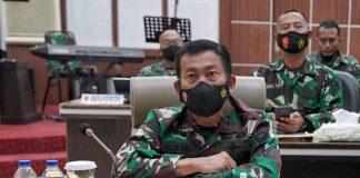 Pangdam II/Sriwijaya Ikuti Vicon dengan Panglima TNI Bahas Evaluasi Penanganan COVID-19 dan Vaksinasi