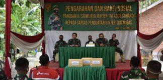 Kunker ke Wilayah Korem 042/Gapu, Pangdam II/Sriwijaya Cek Pos Penguatan Binter SKK Migas