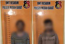 Terekam di Vidio Ponsel Milik Warga, Saat Mencuri Besi Pagar, Dua Pria Ini Dijemput Anggota Reskrim Polsek Medan Barat