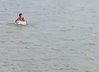 TERUNGKAP! Video Viral Bocah SD Kayuh Styrofoam Box Seberangi Sungai, Ternyata Biasa Dimainkan Anak-anak di Desa Kuala Sungai 12 OKI, Selepas Sekolah